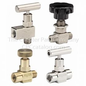 "Noshok Needle Valve - Stainless Steel 1/4"" NPT Female To Female"
