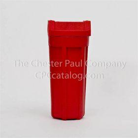 """Pentek (150015) 3/4"""" NPT 10"""" Standard Housing Red/Red High Temperature w/o PR"""