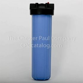 "Pentair (150233) 1"" NPT 20"" Big Blue Heavy Duty Housing Black/Blue HFPP w/PR"