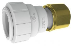 "John Guest Brass Female Connector - 3/4"" CTS x 3/4"" NPT"