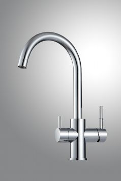 Likuan Tri-Flow Deluxe Specialty Line Faucet - Nickel Plated