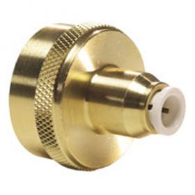 "John Guest Brass/Polypropylene Female Connector (Garden Hose) - 1/4"" x 3/4"" -11.5 NH (Lead Free)"