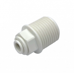 "John Guest Male Connector - 1/4"" QC x 1/2""NPTF - Polypropylene"