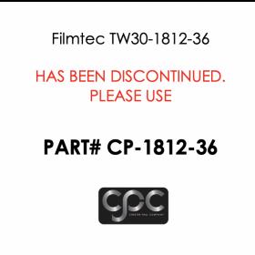 """Filmtec 1.75"""" x 11.75"""" Residential Tap Water Membrane - 36 GPD"""