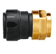 """John Guest Brass Female Connector - 3/8"""" CTS x 1/2"""" NPS"""