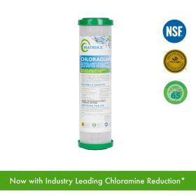 "MATRIKX - CHLORAGUARD Activated Carbon Block Filter for Chloramine, Chlorine, Taste, Odor and VOC Reduction 10"" x 2.5"""
