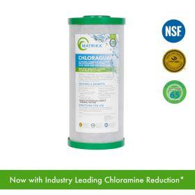 "MATRIKX - CHLORAGUARD Activated Carbon Block Filter for Chloramine, Chlorine, Taste, Odor and VOC Reduction 10"" x 4.5"""